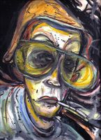 Hunter S Thompson by Tat2ood-Monster