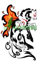 ::okami tribal:: by Ashenee