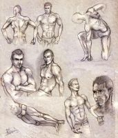 Male anatomy sketches by RuxandraLache