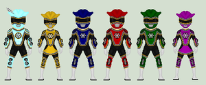 Request: Power Rangers Pirate Railers by Soluna17