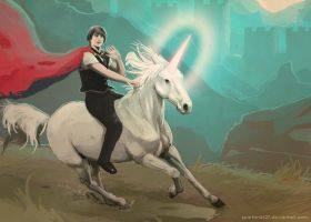 John and The Unicorn by Spartan0627