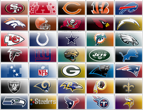 NFL Stamps by Jamaal10