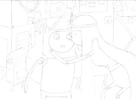 Adventure Time Outline by stonerloner