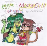 AT 2013: Kappa and Monkey Girl by gilster262