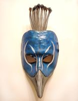 Peacock Bird Leather Mask by teonova