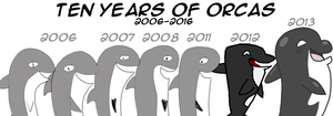 TEN YEARS OF ORCAS! 2006-2016 by AquaPicture