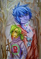 watercolor corpses by KoTana-Poltergeist