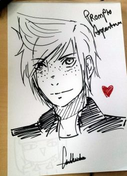 [Gift] Prompto luv by Glinel