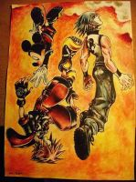 Watercolor pencils Kingdom Heart by MM-ARTDrawing