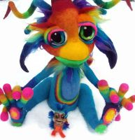 Rainbow Gobstopper Goblin by Tanglewood-Thicket