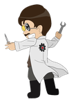 Dr. Olbricht Chibi by GermanLunarPrincess