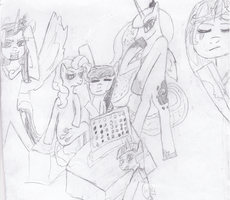 Pony Draw The Squad by TimeLordOfTheMoon