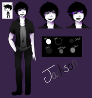CP OC: Jackson the Grey ref by Mistress-Ink