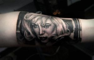 Marilyn Portrait Tattoo by tainted-orchid