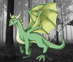 Forest Dragon by SnowBreeze-Puff