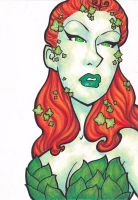 Poison Ivy Headshot Colour by BevisMusson