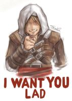 I WANT YOU LAD by sazienas