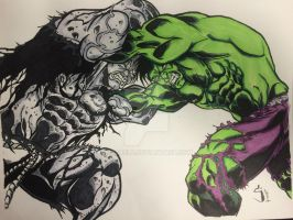 Solomon Grundy vs Hulk by Drakelb