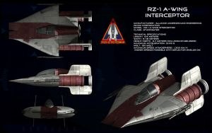 RZ-1 A-Wing interceptor [updated] by unusualsuspex
