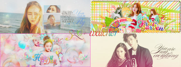 [SHARE PSD] Happy Watcher 320+ by Mineri-Chan