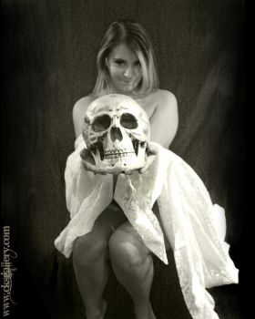 Classic Nude with Skull 4 by Chuck-K