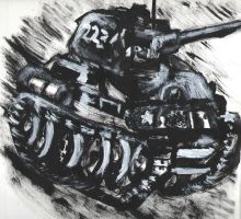 T-34 paint sketch by Delishen