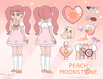 Peach Moonstone - Gemsona by Princess-Peachie
