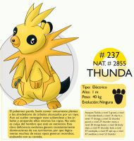 Pokemon Oryu 237 Thunda by shinyscyther