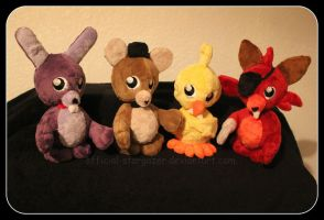 Five Nights at Freddy's 3 Bobble Heads by Official-Stargazer