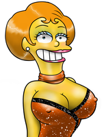 Mrs. Krabappel Steps Out by dcolb121