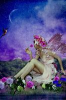 Night Fairy of the Roses by designdiva3
