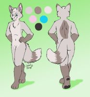 Snow Fox Character Sheet by SilentRavyn
