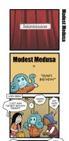 Modest Medusa intermission comics part 1 by JakeRichmond