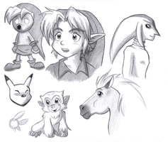Majora's Mask sketches by BlueLink