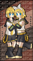 Kagamine Rin and Len by kittako