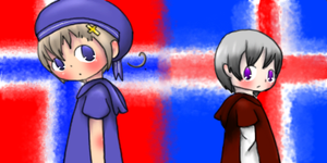 Hetalia - Norway and Iceland by HayaMika