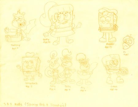 SpongeBob and Sandy's Kids by dannyfangirl