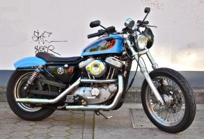HD Sportster blue 1 by cmdpirxII