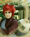 Gaara Cosplay with Sand by SabakuNoEle