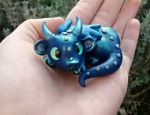 Whisper Wish polymer clay baby dragon by RaLaJessR