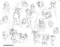Wreck-It Ralph fan-doodles by Naturally1nsane