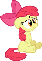 Sad Apple Bloom Vector by scrimpeh