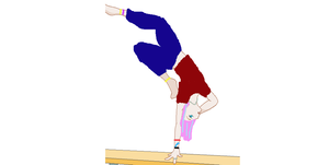 Arista doing Gymnastics by AmberTheAlchemist