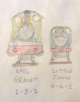 Earl Graham and Little John front view by WhippetWild