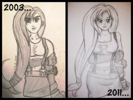Redrawn: Tifa 2003-2011 by Berrystuff
