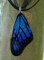 Azure and Pur. Glass Wing by FusedElegance