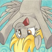 Derpy Hooves upside down sticky note by AgentEvans
