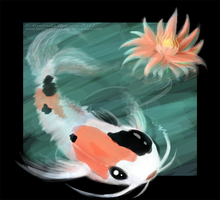 Koi in the Water by ImmortalTanuki