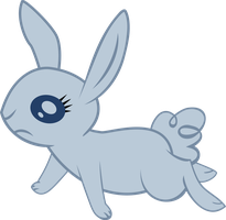 Sad rabbit vector by Dutchcrafter