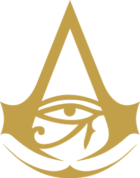 Assassin's Creed Origins wallpaper and logo (SVG) by TheGoldenBox